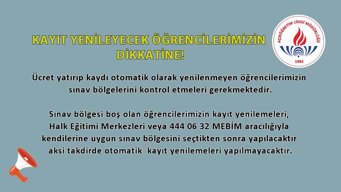 ÖNEMLİ DUYURU!